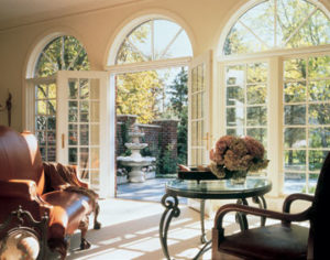 Sierra Pacific Aluminum Clad French Doors and Windows to Patio